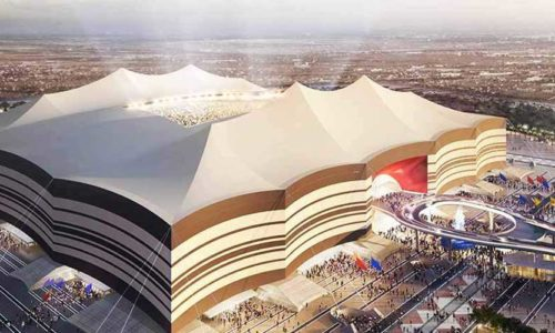 Al Bayt Stadium di Al Khor, Qatar. Pronti per il Mondiale di Calcio 2022 e non solo!